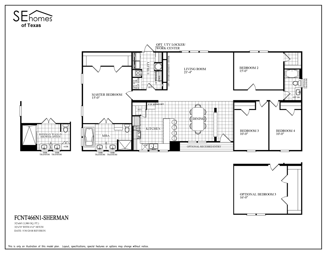 The THE SHERMAN Floor Plan