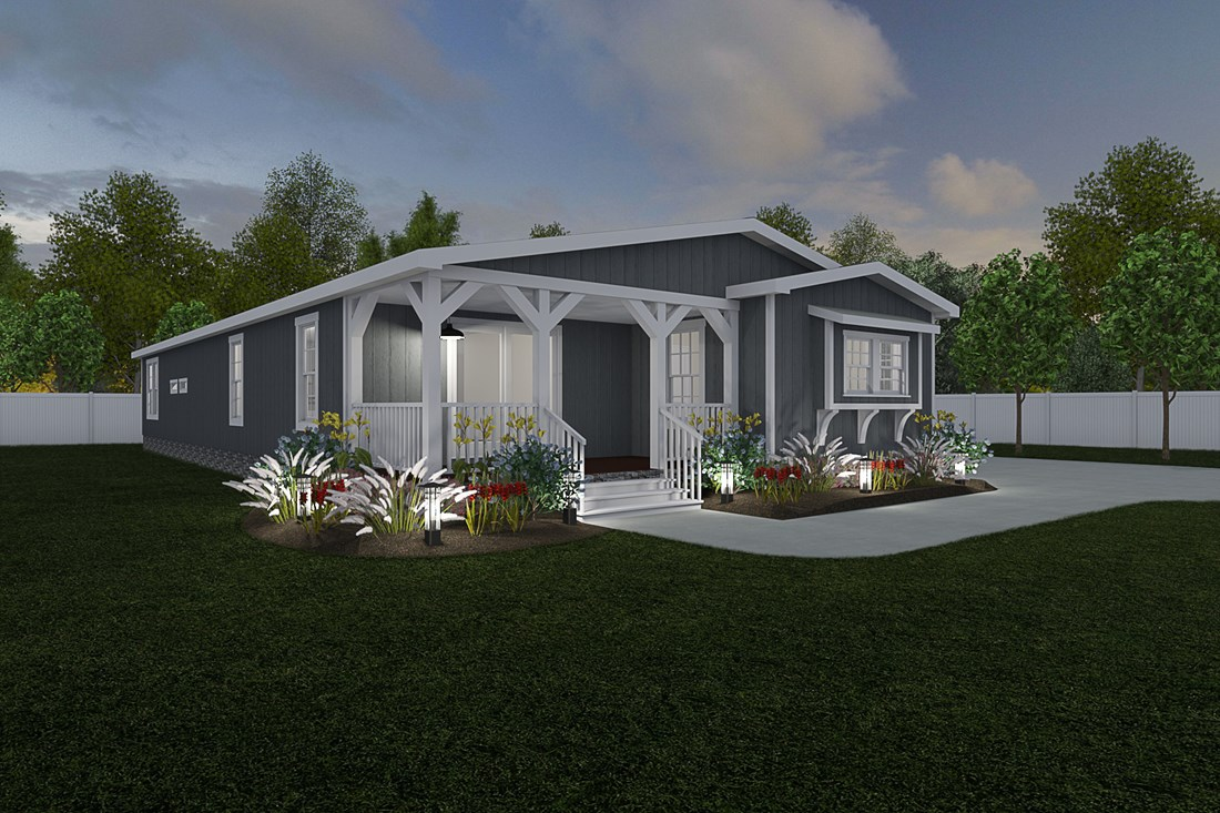 The THE LITTLEFIELD Exterior. This Manufactured Mobile Home features 3 bedrooms and 2 baths.