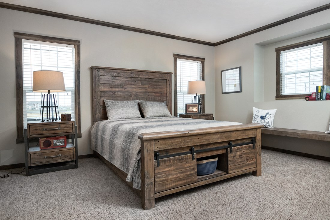 The THE LITTLEFIELD Master Bedroom. This Manufactured Mobile Home features 3 bedrooms and 2 baths.