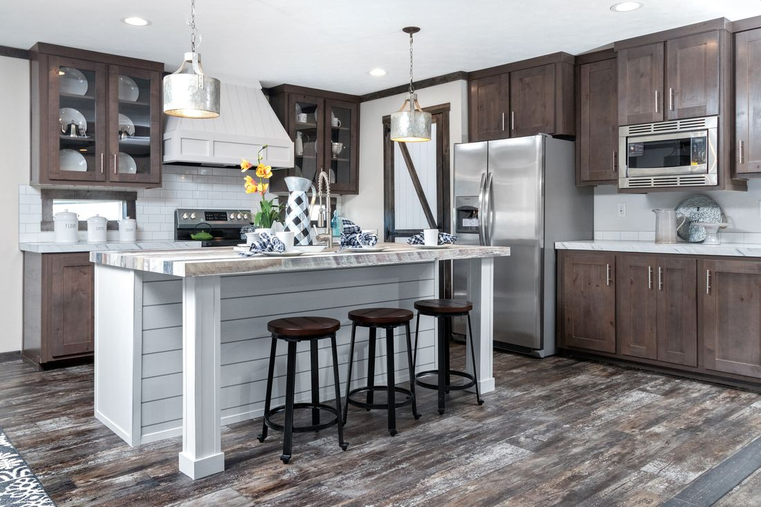 The THE IDALOU Kitchen. This Manufactured Mobile Home features 3 bedrooms and 2 baths.