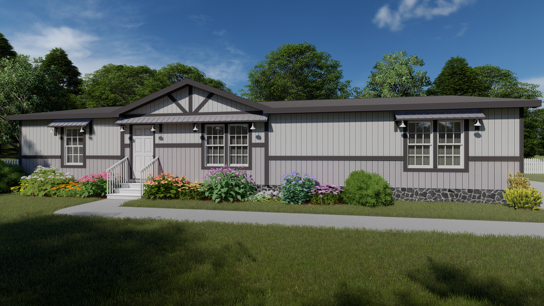 The THE IDALOU Exterior. This Manufactured Mobile Home features 3 bedrooms and 2 baths.