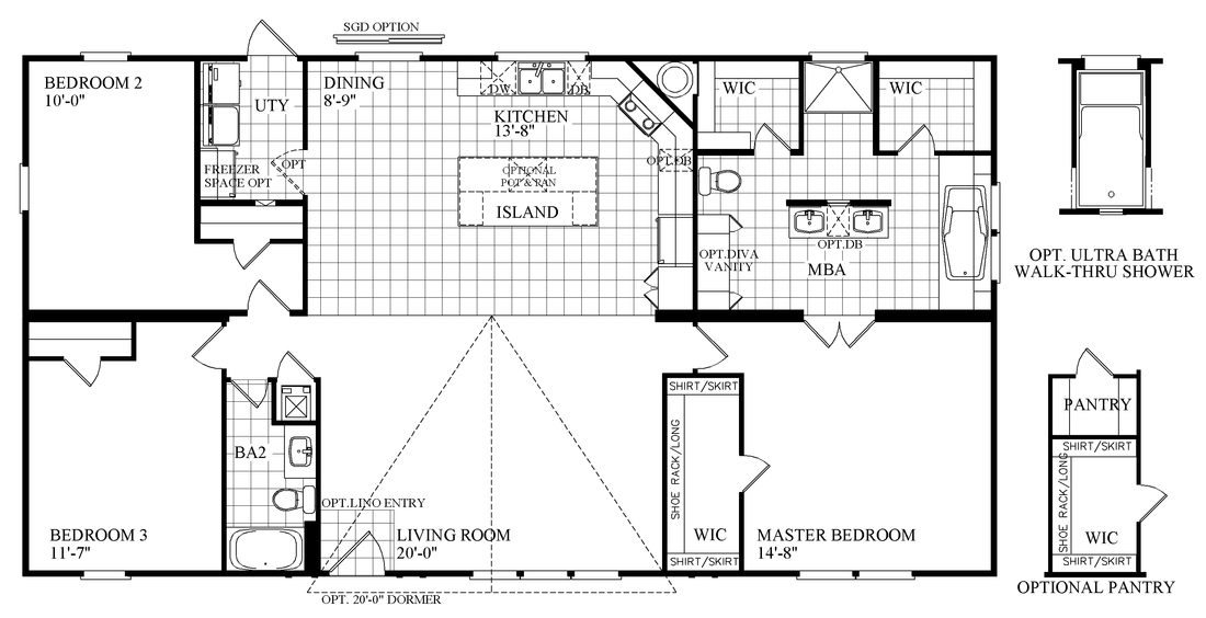 The THE MINI DRAKE Floor Plan